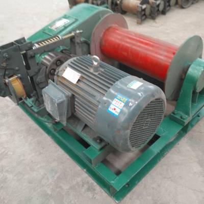 鄂尔多斯天旺3T单电机驱动卷扬机牵引重物稳定