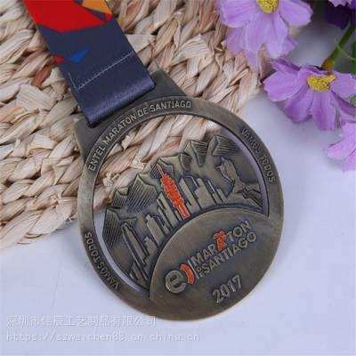 定制金属奖牌 锌合金运动会奖章烤漆镂空勋章定做 马拉松比赛奖牌