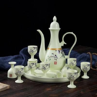 高档中式家用酒壶小酒杯 高温陶瓷酒具 酒壶套装礼品