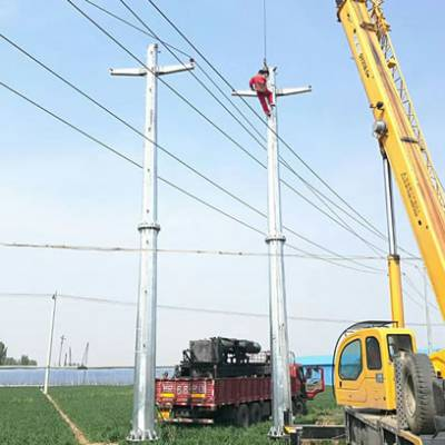 吉林市单回路输电钢杆报价 霸州市顺通电力