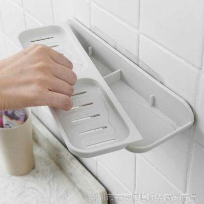 精选沥水香皂盒吸盘壁挂式浴室香皂架免打孔卫生间肥皂盒吸壁式大