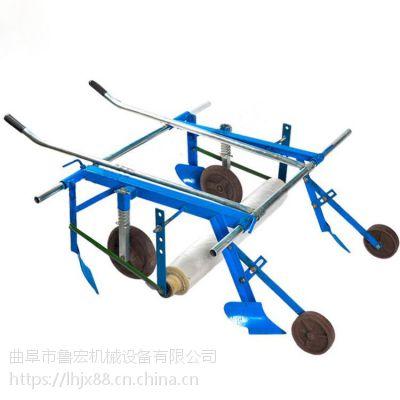 农作物铺膜机/小型手拉地膜机山东鲁宏