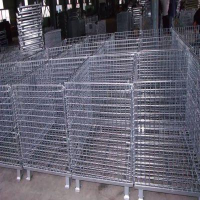 金属周转箱 折叠式仓储笼 铁丝笼量大从优