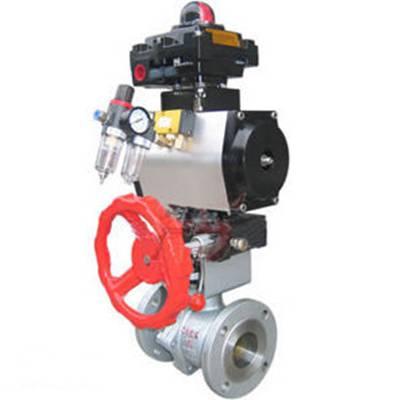 可诺泵阀ZSHO气动O型切断球阀-V型切断阀