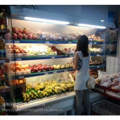 新乡仟曦定做带喷雾功能的风幕柜水果保鲜展示柜