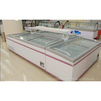 上海重庆哪里有卖组合岛柜 大型超市冷冻柜丸子饺子展示冷柜