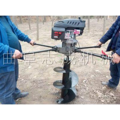 农用地面立柱打孔机 汽油四冲程挖坑机价格参数 山地植树挖坑机