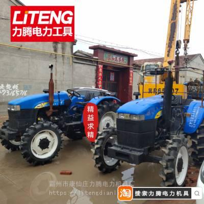 抚顺山拖500拖拉机绞磨 上海二手拖拉机改装绞磨机 四轮放线绞磨车生产厂家
