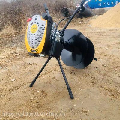 智航二冲程农林地钻挖坑机 新款双人用汽油挖坑机 植树挖坑机厂家