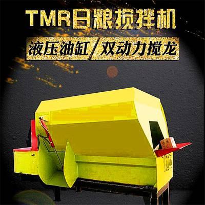玉溪日粮搅拌机 TMR饲料混合拌料机价格 圣泰牌青贮制备机