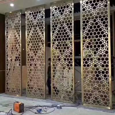 福建莆田星级酒店装饰工程不锈钢屛风-不锈钢垃圾桶