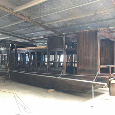 湖北恩施木船厂家定制6米仿古嘉兴红船