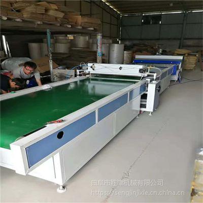 天然石材淋涂固化机 10.6米UV光油淋涂溜平固化一体机