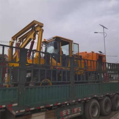 护栏打桩机一体机发往黑龙江,为公路养护提供一份力量。
