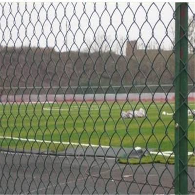 足球场浸塑围栏网 学校操场体育场防护网 勾花护栏网厂家