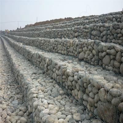 供应 高镀锌低碳钢丝格宾网 石笼挡土墙