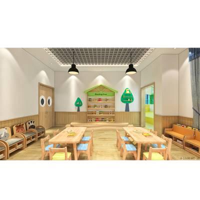 幼儿园家具,樟子松儿童桌椅,教室配置-绿森堡厂家直销