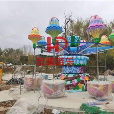 逍摇水母 游乐园新型好玩亲子游乐设备桑巴气球旋转升降摇头逍摇水母