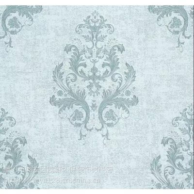 欧雅670668唯美别致 典雅温馨美式高精密提花无缝壁布