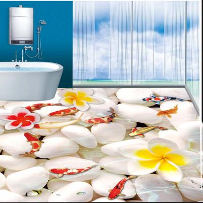 高清鲤鱼戏水玻璃瓷砖3D地砖什么价位一块
