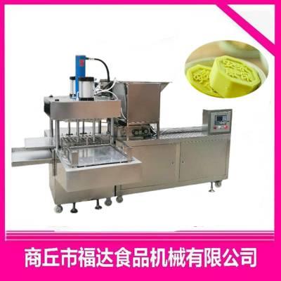 全自动绿豆糕设备生产厂家夹心分层都可以做的绿豆糕机器