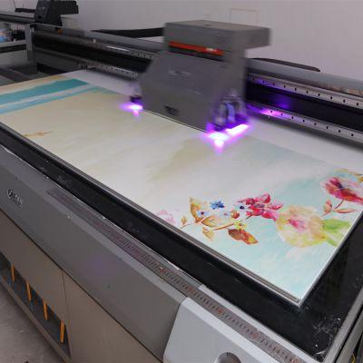 3D浮雕亚克力UV平板打印机 理光5D亚克力无框画UV彩绘机供应商