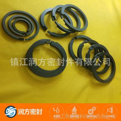 大型无油压缩机配套使用的 更耐磨的聚四氟乙烯PTFE碳纤维活塞环