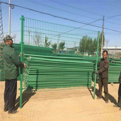 高速双边护栏网 高速双边护栏网 浸塑铁丝网护栏