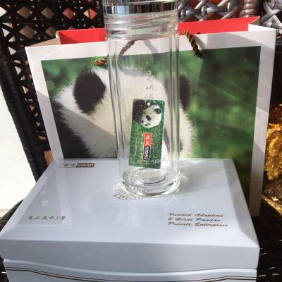 西安思宝玻璃杯专卖专柜团购 高山流水德厚流光山水知音墨晶水杯定制