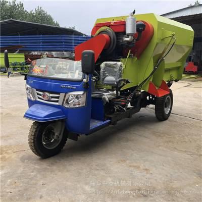 现代化养殖场饲喂车容量定制 大马力自走式撒料车 中泰机械