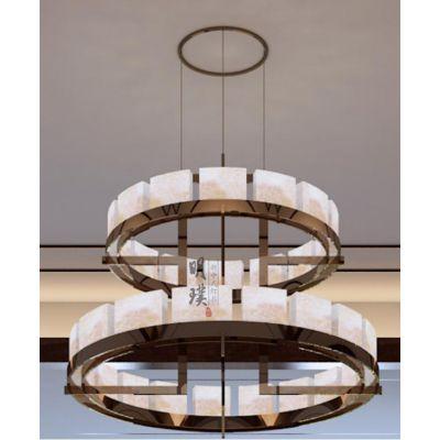 新中式吊灯中国风大气复古灯具现代简约新中式吊灯