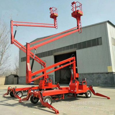 厂家直销8米10米12米14米曲臂式升降平台柴油机电瓶曲臂式升降车可360度旋转