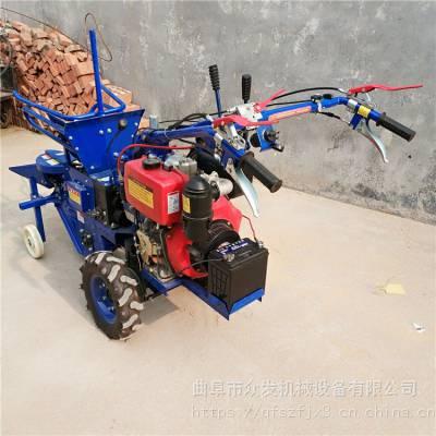 192玉米收割机 电启动单行玉米收获机 农用机械