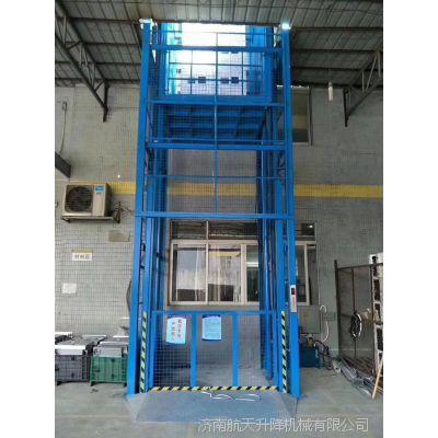 青岛固定导轨式升降货梯厂家定制 提供原厂液压配件