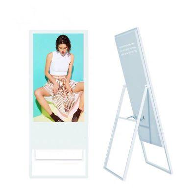 49寸水牌广告机 LED超薄高清轻便折叠式液晶广告机 电子水牌电容触摸一体机可选