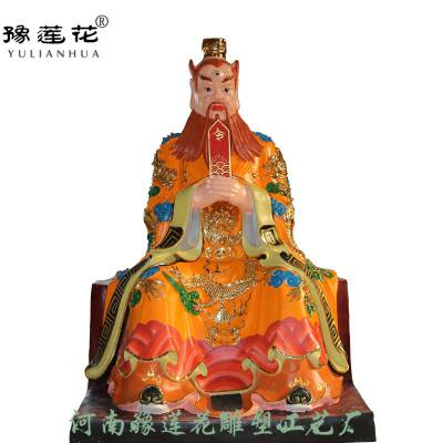 四海龙王神像坐像龟丞相图片虾兵蟹将龙王爷神像河南豫莲花雕塑厂