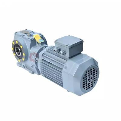 斜齿轮蜗轮蜗杆减速器SA57-Y0.75KW-1/94.08-MID30减速机 沃旗