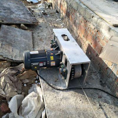 刮粪机主机 养猪设备 不锈钢刮粪机 一拖二清粪机 设计安装