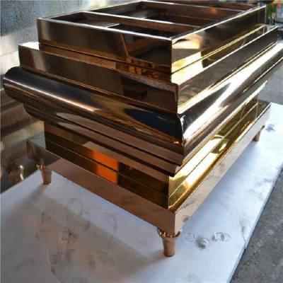 KTV不锈钢镜面玫瑰金桌台报价 香港私人会所不锈钢桌台