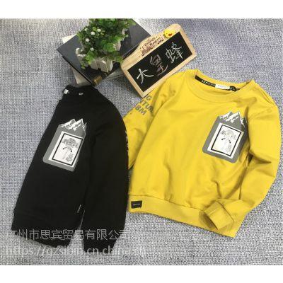 广州思宾服饰供应一线品牌童装大黄蜂秋装新款