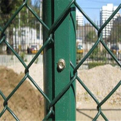 休闲广场围网 菱形防护网 勾花围网