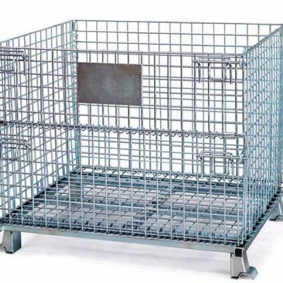 重庆成品折叠式金属仓储笼_固联折叠式金属仓储笼厂家价格