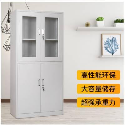 熊猫牌宜春冷轧板文件柜定做铁皮柜储物柜喷塑玻璃器械仪器柜异型文件柜厂家定制