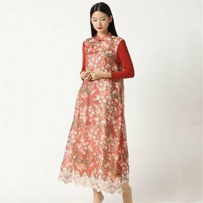 河南压花金丝绒连衣裙产品的销售渠道有哪些_元亨服饰