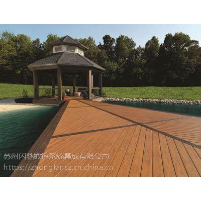 江阴木塑廊架WPC共挤塑木PVC生态木墙板600*9长城板木塑花架木塑葡萄架厂家直销