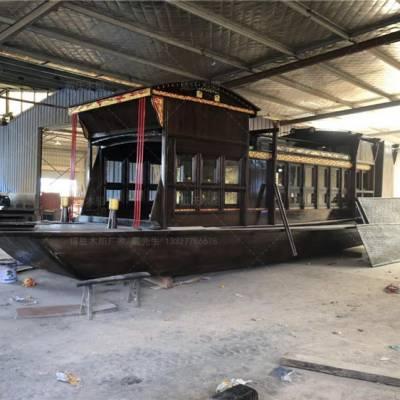 广东肇庆木船厂家定制10米仿古嘉兴红船