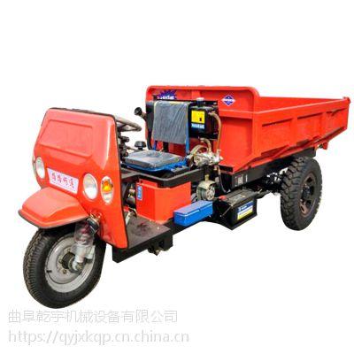 新促销工程专用三轮车现货 耐用型工程拉料直角斗柴油三轮车 电启动