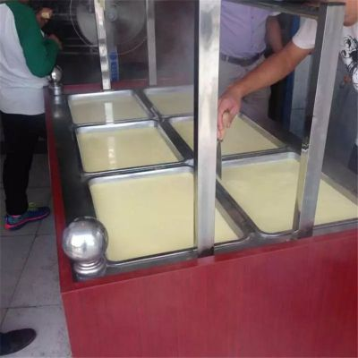 湖北哪里有卖腐竹油皮机的 油皮机价格绿色环保仿手工豆油皮机