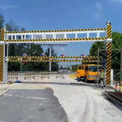 商丘睢阳区 交通限高架厂家 遥控升降限高架 桥东交通限高杆 路口限高杆 交通设施围栏