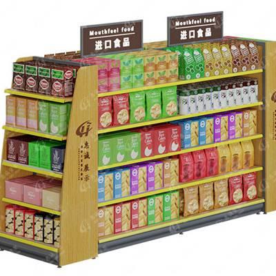 便利店超市钢木货架置物架零食休闲食品商店展示架展柜陈列柜批发-惠诚货架